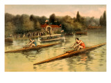 Single Rowing Competition Prints