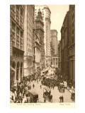 Vintage View of Broad Street, New York City Poster