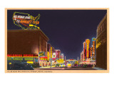 Night, Virginia Street, Reno, Nevada Poster