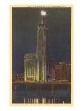 Night, A.I.U. Citadel, Columbus, Ohio Print