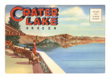 Postcard Folder, Crater Lake, Oregon Photo