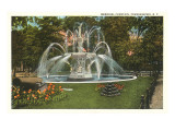 Memorial Fountain, Poughkeepsie, New York Prints