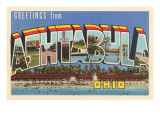 Greetings from Ashtabula, Ohio Prints