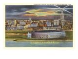 Night, Cleveland Stadium, Cleveland, Ohio Poster
