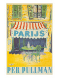 Parisian Outdoor Cafe, Per Pullman Print