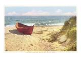 Dory on Beach, Wauwinet, Nantucket, Massachusetts Premium Giclee Print