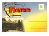 Postcard Folder, Montana Print