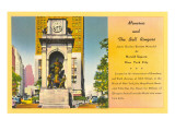 Minerva and Bell Ringers Statue, New York City Prints