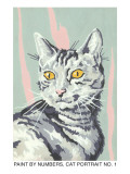 Paint by Numbers, Cat Portrait Number One Poster