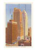 Skyscrapers, Oklahoma City, Oklahoma Print