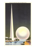 Trylon and Perisphere, New York World's Fair, 1939 Poster