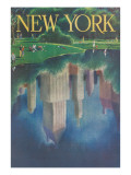 Travel Poster, Central Park, New York City Giclée-Premiumdruck
