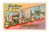 Greetings from Scranton, Pennslyvania Prints