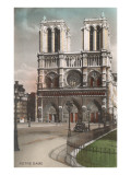 Facade of Notre Dame Cathedral Art