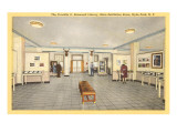 Interior, FDR Home, Hyde Park, New York Prints