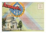 Postcard Folder, Annapolis, Maryland Print