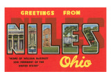 Greetings from Niles, Ohio Print