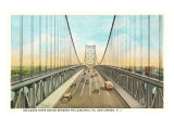 Delaware River Bridge, Philadelphia, Pennsylvania Print