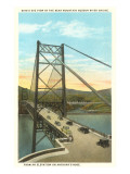 Bridge on Hudson River, New York Prints