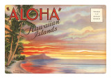 Postcard Folder, Aloha, Hawaiian Islands Prints