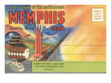 Postcard Folder, Memphis, Tennessee, Down in Dixie Prints