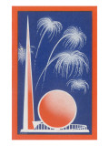 Trylon and Perisphere, New York World's Fair Prints