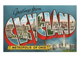 Greetings from Cleveland, Ohio Print