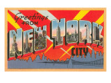 Greetings from New York City Prints