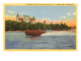 Boldt Castle, Speedboat, Thousand Islands, New York Poster