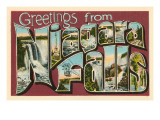 Greetings from Niagara Falls Prints