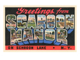 Greetings from Scaroon Manor, New York Posters