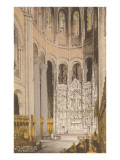 Interior, St. John the Divine, New York City Print