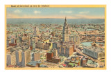 View over Downtown Cleveland, Ohio Prints
