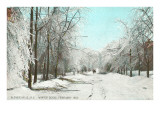 Winter Scene, Gloversville, New York Poster