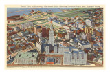 Aerial View of Downtown Cleveland, Ohio Posters