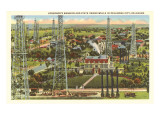 Governor's Mansion and Oil Wells, Oklahoma City, Oklahoma Prints