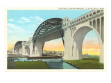 Central Lorain Bridge, Cleveland, Ohio Poster