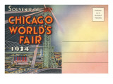 Postcard Folder, Souvenir of Chicago World's Fair Posters