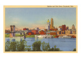Skyline and Ohio River, Cincinnati, Ohio Posters