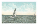 Yachting on Lake Champlain, New York Prints