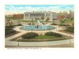 Logan Circle, Public Library, Philadelphia, Pennsylvania Prints