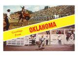 Greetings from Oklahoma, Rodeo Views Posters