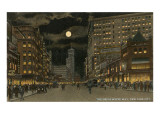 Moon over Broadway, New York City Prints