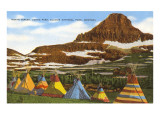 Indian Tepees, Glacier Park, Montana Prints