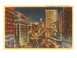 Times Square at Night, New York City Posters