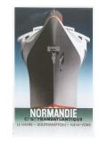 Normandie Ocean Liner Plakaty