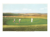 Golfing by the Sea, Nantucket, Massachusetts Prints