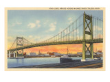 Bridge over Maumee River, Toledo, Ohio Prints