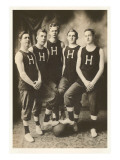 Early Basketball Team Prints