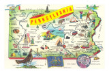 Map of Pennsylvania Posters